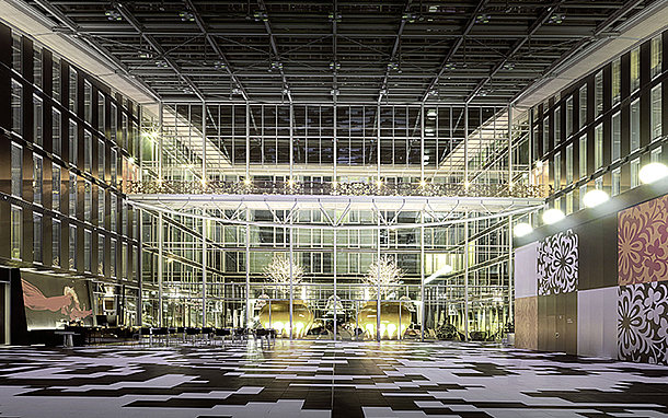 Hotel Kameha Grand event hall at night