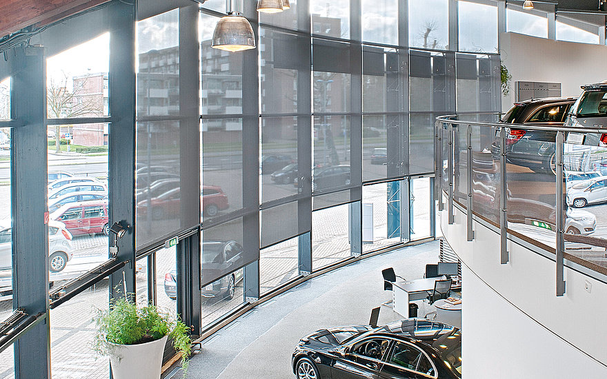 Mercedes-Benz ASV showroom Interior view
